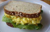 Super Fast deliciosa ensalada del huevo