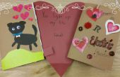 Día de San Valentín tarjeta de papel
