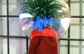 Titular de la planta de aire mini barato interior con reflector de luz, humedad bandeja y planta la etiqueta