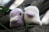 Aves de amor de punto