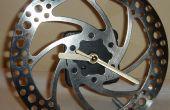 Hacer un reloj de un disco de freno de bicicleta