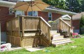 Construcción de un deck de madera sobre un concreto