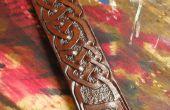 Diseño y hacer celta lazos correa de cuero