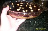 Molde sin corteza mantequilla de maní casera y tarta de gelatina