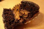 Mini de popper de chocolate mantequilla de cacahuete Cupcakes