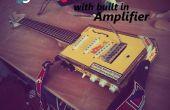 Guitarra electrica de caja de puros con construido en amplificador
