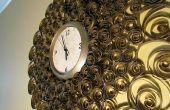 Reloj de pared de imitación latón