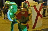 Brillante traje de jinete de dragón / Disfraz de jinete de dragón brillante