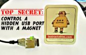 Secreto superior: Control de un puerto usb oculto con un imán!