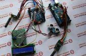 NRF905 de medición de distancia por ultrasonidos sistema de transmisión inalámbrico basado en Arduino