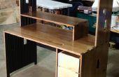 Escritorio madera maciza por sólo $50 en material!