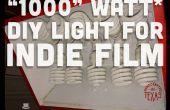 """""""1000"""" Watt DIY luz para cine independiente y fotografía"""
