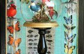 Aves y mariposas en cristal