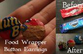 Dulces alimentos Wrapper botón pendientes