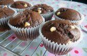 Magdalenas de Chocolate doble rápidas y fácil