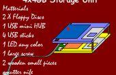 Unidad de almacenamiento USB hub en disquetes! ¿