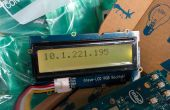 Mostrar la dirección de IP WiFi Intel Edison una retroiluminación de RGB LCD Grove