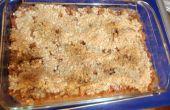 Dulce y tarta Crumble de ruibarbo