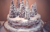 Torta bosque nevado