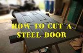 Como cortar y cambiar el tamaño de una puerta de entrada de acero revestido