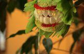 Horribles trajes de planta de interior: Ficus feroz y resto en lirio de la paz