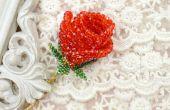 Cómo hacer una Red 3D con cuentas rosas para la novia como regalo de San Valentín