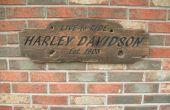 Cartel rústico Harley Davidson