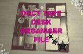 Fichero de organizador de escritorio de cinta del conducto