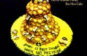 El pastel de zanahoria nuez miel abeja colmena