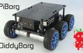 DiddyBorg: El Mini 6 ruedas frambuesa Pi Robot!