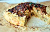 Caramelizada tarta de cebolla con salvia corteza de patata dulce