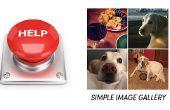 Galería de imágenes simple HTML CSS Javascript