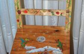 Pintado de la trona - silla alta de pintura
