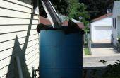 Torre del agua del colector de lluvia agua con rebosadero automático