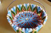 Un colorido Quilled cesta regalo