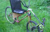 Centro de impulsión de rueda delantera-dirección Semi-Recumbent bicicleta