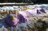 Cómo crear un colorido dragón de nieve