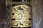 Juego de tronos personalizada etiqueta de la botella