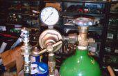 Sistema de CO2 para el funcionamiento de herramientas neumáticas y neumáticos de relleno