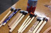 Cola pluma de materiales y diseño para pequeña producción ejecutar
