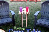 Fácil plegable mesa de campo madera