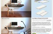 Mínimo flotador pared escritorio - rápido hacer durante la producción en masa o DIY