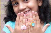 Anillos de botón de bricolaje para niños