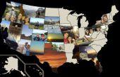 Mapa de foto de Estados Unidos