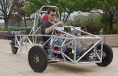 Un chasis de vehículo de 3 ruedas de ingeniería
