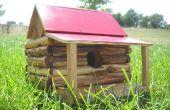 Cabaña de madera casa del pájaro