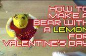 Cómo hacer un oso con un limón por día de San Valentín