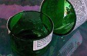 Cómo hacer un azulejo mojado vio a botellas de vidrio de corte