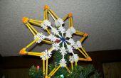 Cómo hacer una estrella de Bethlehem adorno de árbol de Navidad de K'nex.