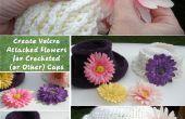Crear Velcro une flores de ganchillo (u otros) Caps